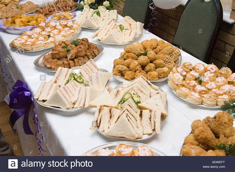 Food Buffet Table At A Wedding Reception In The Uk Stock Photo Wedding Flowers Calgary Low Pumps Robes Johannesburg Comfy Tipperary How Much Wellington Uk Online