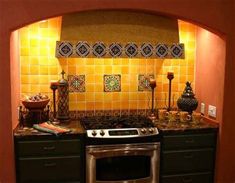 Talavera Tile Backsplash And Granite Countertop  Home