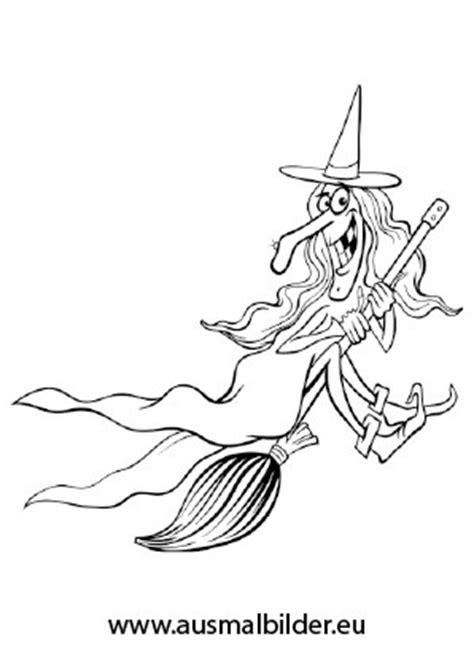 ausmalbilder alte boese hexe halloween malvorlagen