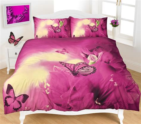 king size fitted sheet butterfly 3d effect duvet cover bedding set ebay