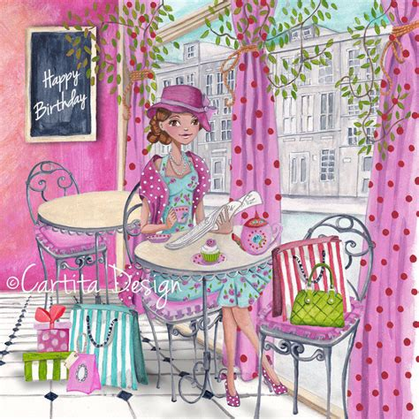 illustrations cartita design  happy birthday