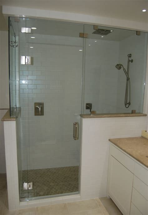 shower pony wall height search bathroom   glass