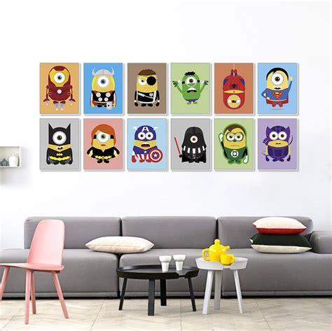 superhero wall art  kids wall art ideas