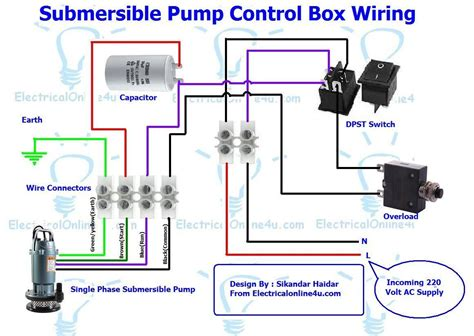 submersible well pump control box wiring diagram submersible pump control box wiring diagram for 3 wire