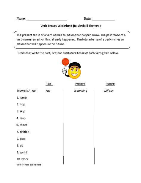 verbs worksheets verb tenses worksheets