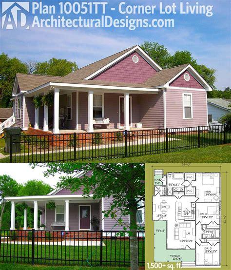 plan tt corner lot living architectural designs