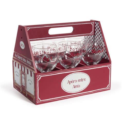 maison du monde bicchieri panier 6 verres en verre bistrot maisons du monde