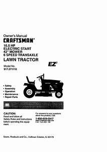 Craftsman Lawn Mower 917 271110 User Guide