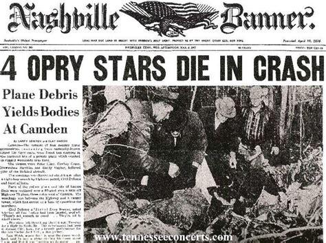 Patsy Cline Killed In Plane Crash Near Nashville, 3-5-63
