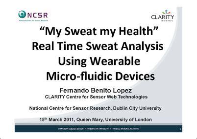 sweat  health real time sweat analysis