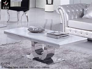Table Basse De Luxe Moderne En Pierre De Marbre D39acier