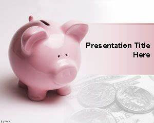 Financial Piggy Bank PowerPoint Template | Free Powerpoint ...