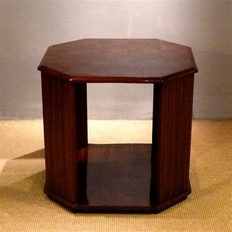 art deco side table art deco hexagonal side table 1930s for sale at pamono