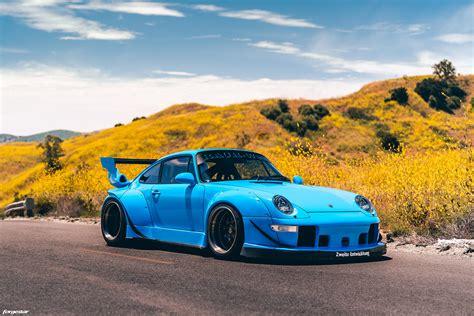 riviera blue rwb porsche  turbo  forgestar  wheels