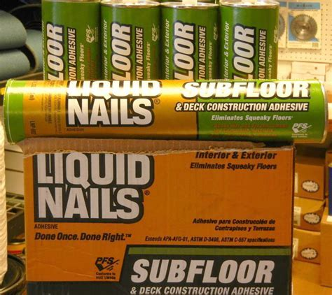 Liquid Nails   Carolina Floor Covering