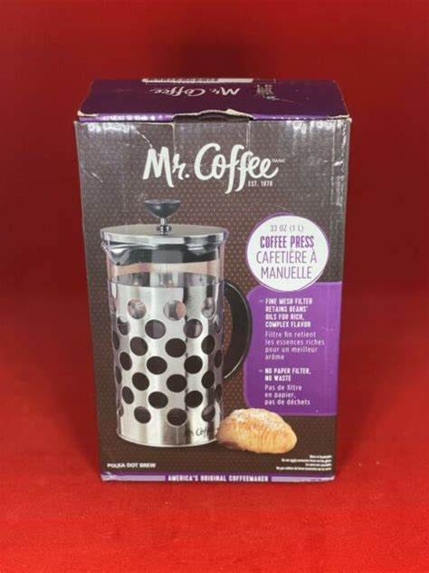 More than 253 mr coffee delay brew not working at pleasant prices up to 27 usd fast and free worldwide shipping! Mr Coffee Mr Polka Dot Brew Coffee Press in Silver | eBay