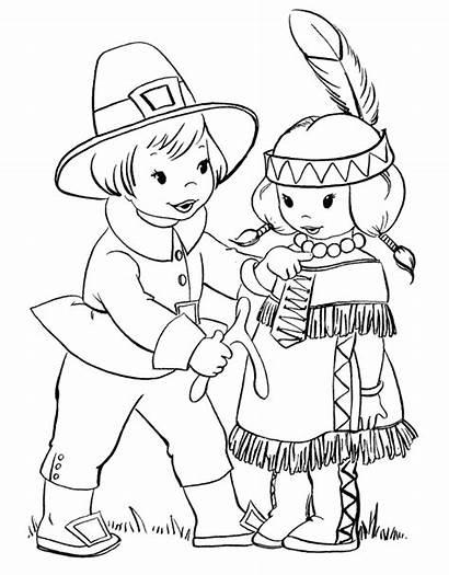 Thanksgiving Coloring Pages Printable Sheets Pilgrim Turkey