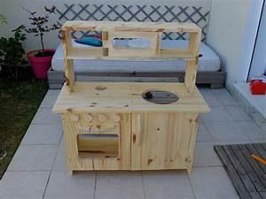 meuble cuisine pour enfants diy gaelle pinterest With fabriquer une cuisine en bois