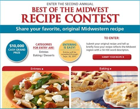 recipe sweepstakes win 10000 in best of the midwest recipe contest sweepstakesbible