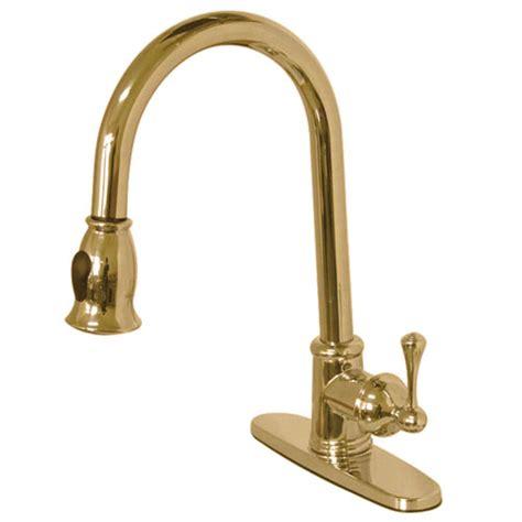 polished brass kitchen faucets kingston polished brass single pull kitchen
