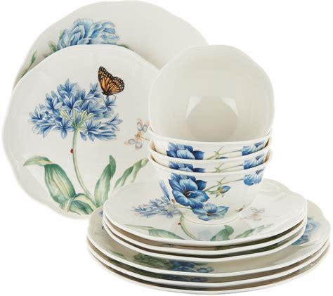 lenox dinnerware butterfly meadow porcelain qvc 12pc
