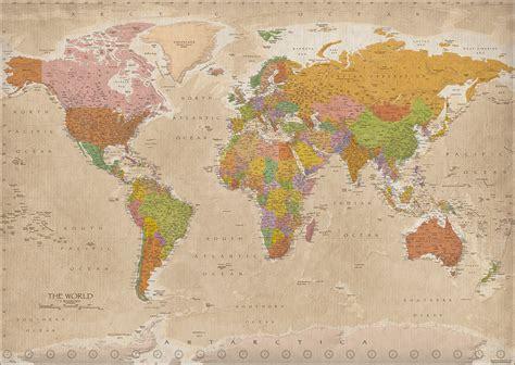Poster Carte De Vintage by Weltkarte Poster Vintage 2017 Maps In M Real