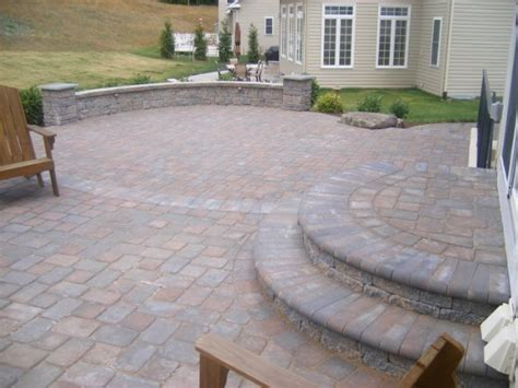 paver patio with sitting wall 2 ciminelli s landscape