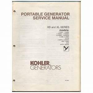 Original 1989 Kohler Portable Generator Service Manual Hd And Xl Series No  Tp