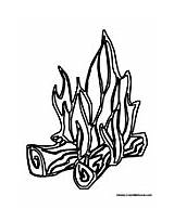Fire Flames Printable Coloring Pages Camp Clipart Colormegood sketch template