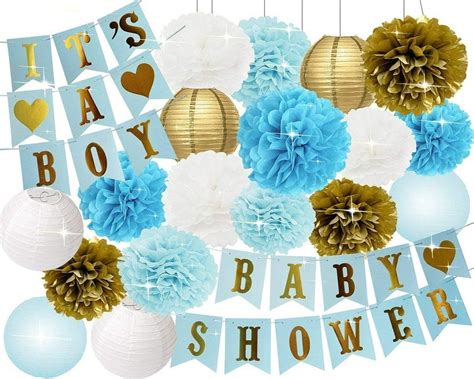 Boys Baby Shower Decorations Set Its A Boy Banner Baby