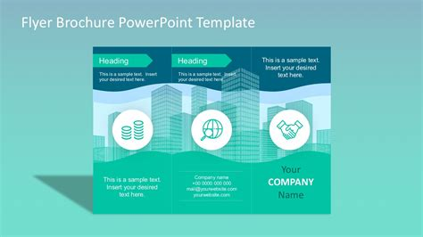 Powerpoint Brochure Templates by Flyer Brochure Powerpoint Template Slidemodel