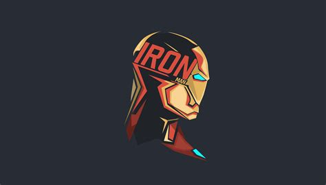 iron man pop head minimalism  hd superheroes