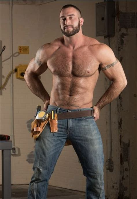 Gay Adult Film Star Hunk Spencer Reed As A Workman