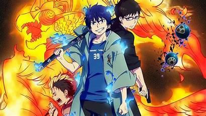 Exorcist Anime Ao Wallpapers Rin Okumura Movie