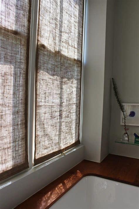 shingled house diy easy burlap shades