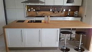 Coller Un Plan De Travail Sur Du Carrelage : plan de travail en bois massif pour votre cuisine ~ Nature-et-papiers.com Idées de Décoration