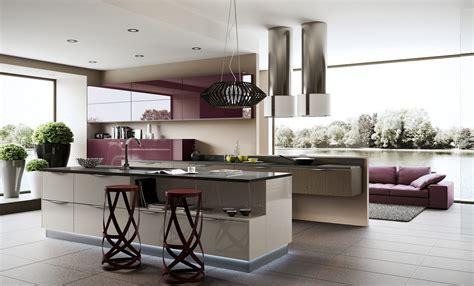 Purple Kitchen Units  Interior Design Ideas
