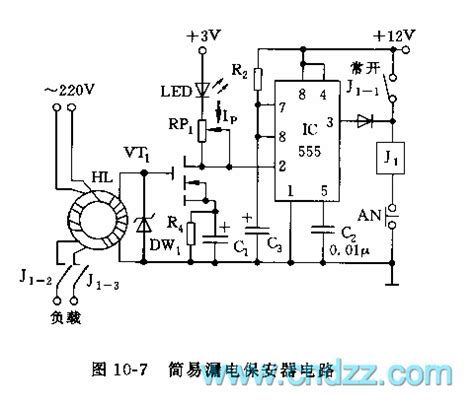 Simple Electric Leakage Protector Circuit