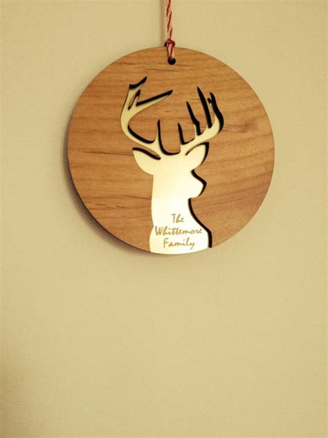 personalised laser cut christmas decoration by polly me