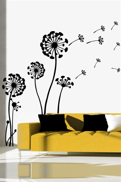 Flowering Dandelion Wall Decal  Nature Decals Walltat