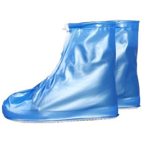 cover sepatu jas hujan sepatu cover hujan sepatu waterproof matte color size xl blue