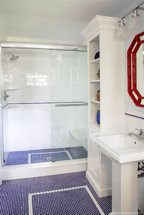 cobalt blue bathroom floor tile decosee