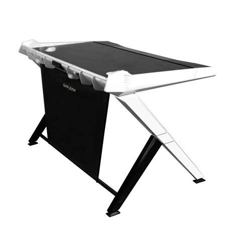 bureau blanc et noir bureau de pc gamer dxracer noir et blanc fauteuilgamer