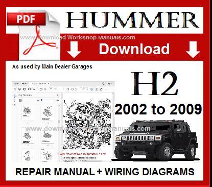 how to download repair manuals 2004 hummer h2 instrument cluster hummer h2 workshop repair manual download