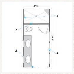 narrow bathroom floor plans floor plan after a bath that 39 s still narrow but brighter and airier this house