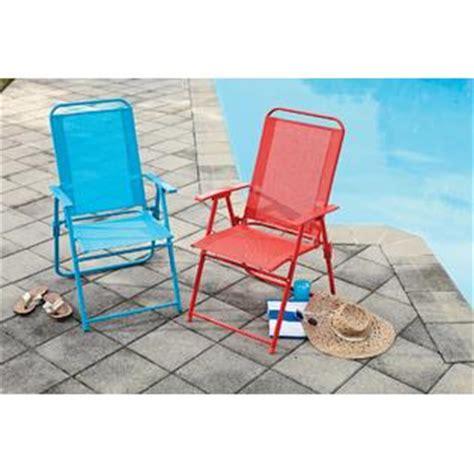 essential garden color sling folding chair blue