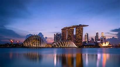 4k Wallpapers Bay Singapore Marina Night Sands