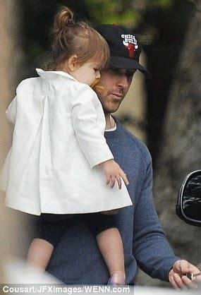 daddy duties ryan gosling takes  daughter   train