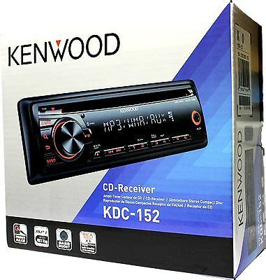 new kenwood kdc 152 in dash din car stereo mp3 wma am fm aux stereo head unit