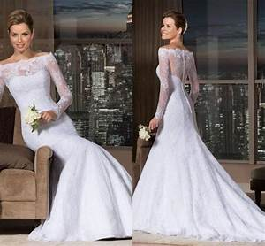 vestido de noiva custom made 2015 vintage long sleeve With wedding dresses with bling and lace